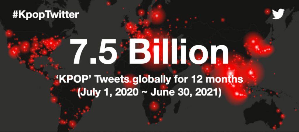 1 7.5B KpopTwitter TrendsMap 2020July 2021June 1