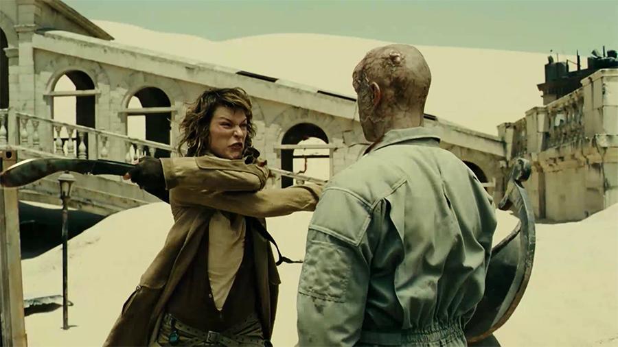 10.ภาพยนตร์ Resident Evil Extinction ผีชีวะ 3 สงครามสูญพันธ์ไวรัส